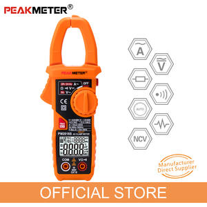 Official PEAKMETER Portable Smart AC Digital Clamp Meter Multimeter AC Current Voltage Resistance Continuity Measurement Tester