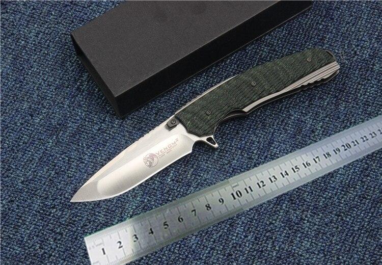 Qualité tactique couteau pliant roulement à billes flipper S35VN lame G10 Poignée camping couteau de survie couteaux de poche EDC outil