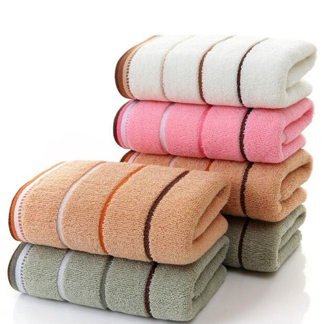 100% Cotton soft absorbent adult household towel Travel Gym Sports Camping Swimming Pool quick drying towel 33x73cm w11-6