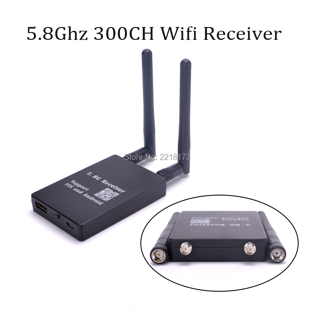 FPV WIFI 5.8G AV Signal Transfer WIFI Transmission Receiver 300CH Portable for G-model IOS Android Smartphone iPad Camera Quad