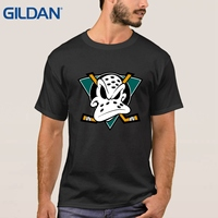 Hip Hop Black T Shirts Mighty Ducks American Man S 4xl O Neck Tee Shirts Short
