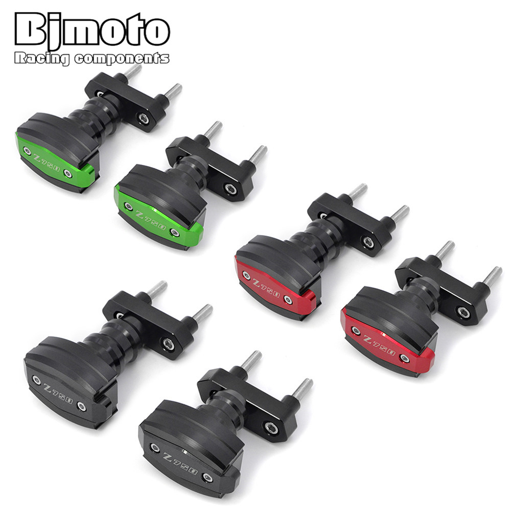 Bjmoto For Kawasaki Z750 2007-2012 Z750R 2011 2012 motorbike Frame Sliders Crash Pad Cover Falling Protector Guard bjmoto cnc aluminum motorbike accessaries motorcycle engine guard cover pad for kawasaki z1000 r 2010 2011 2012