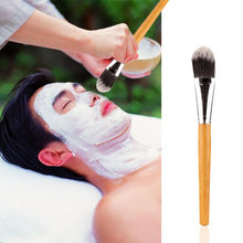 Facial Mask Brush Woman Cosmetic Tool Makeup Foundation Brush Fiber Hair Bamboo Handle Powder Concealer Face Mask Brushes Set(China)