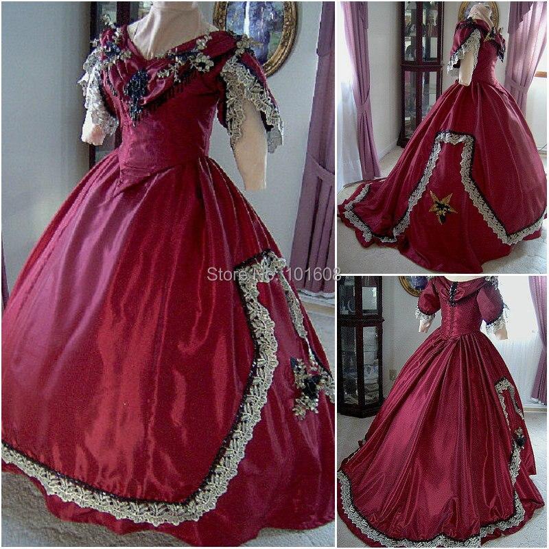 a6fd3e1782 1860 s wiktoriański gorset gotycki civil war southern belle ball dress  halloween sukienki custom made r-160