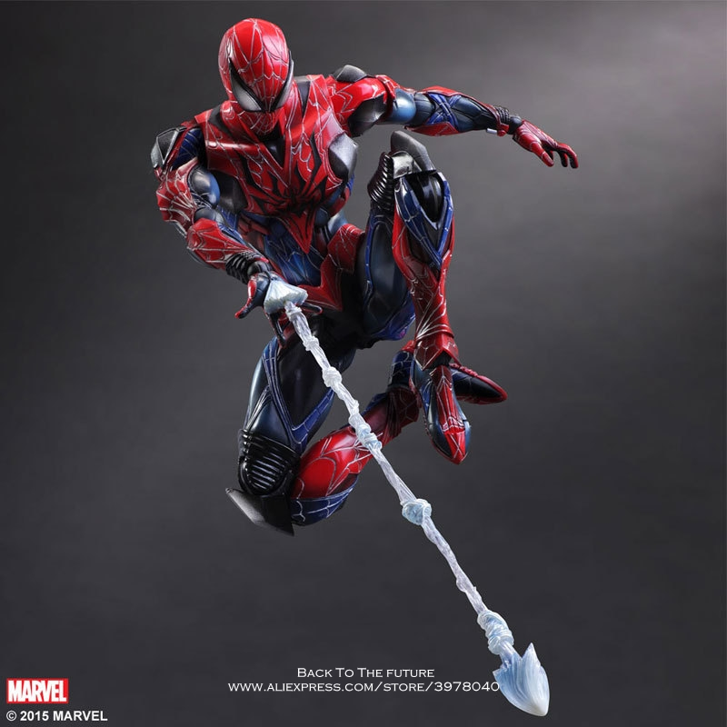 Disney Marvel Avengers Spider Man 28cm Action Figure Posture Model Anime Decoration Collection Figurine Toys model for children цена