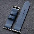 Luxo de alta qualidade azul 38 MM / 42 MM couro da Apple Band Watch Strap para da Apple inteligente relógios frete grátis