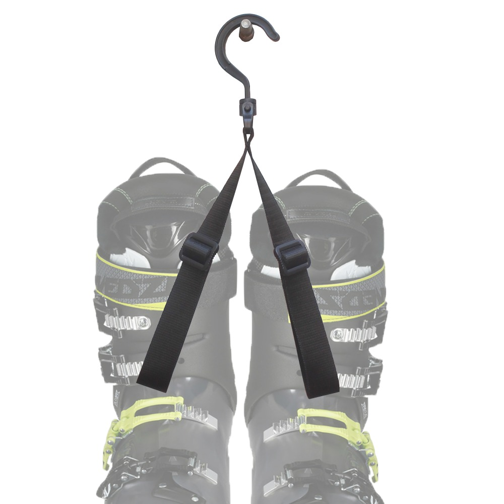2-Pc Adjustable Ski Boot Carrier Ski Boot Strap Boot Bander - NO BOOT