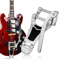 Tremolo Vibrato Bridge Tailpiece Hollowbody Archtop For Guitar Chrome Drop Shipping Support