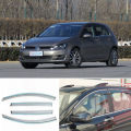 4pcs New Smoked Clear Window Vent Shade Visor Wind Deflectors For VW Golf 7