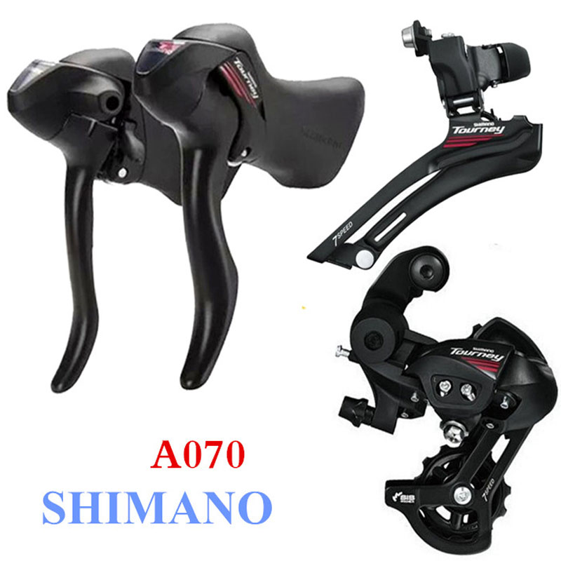 SHIMANO AO70 2x7 Speed Road Bike Shifter Switch Kit Bicycle Transmission Control Handle Sprocket Bicycle Spare Parts Kit cnc sprocket kit