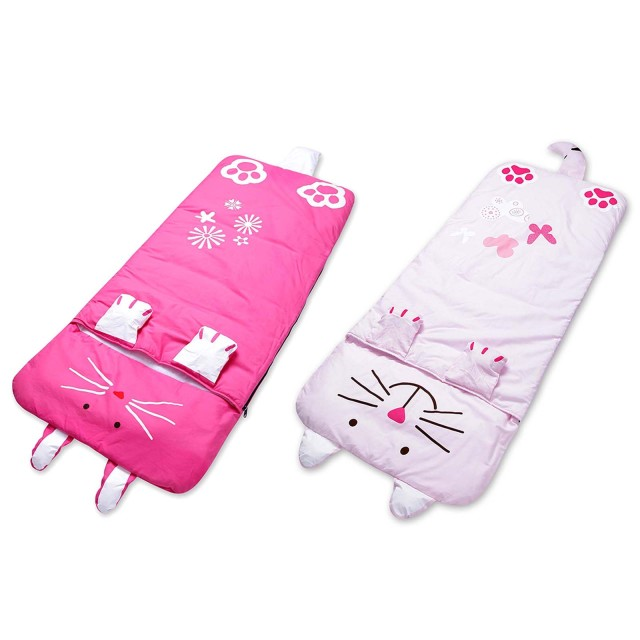 Cute Baby Child Sleeping Bag 140*60cm Cartoon Child Sleep Flat Sheet Slumber Pillow Bedding Bag