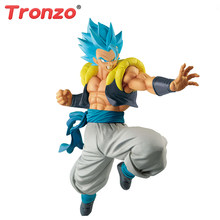 Gogeta Banpresto Originais Super Dragon Ball ULTIMATE SOLDIERS Tronzo Cabelo Azul Filme PVC Modelo Figura Broly Estatueta Brinquedo Gogeta(China)