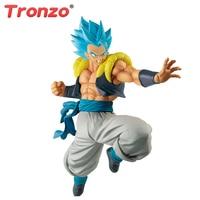 Tronzo Banpresto Original Dragon Ball Super ULTIMATE SOLDIERS Gogeta Blue Hair PVC Figure Model Movie Broly Gogeta Figurine Toy
