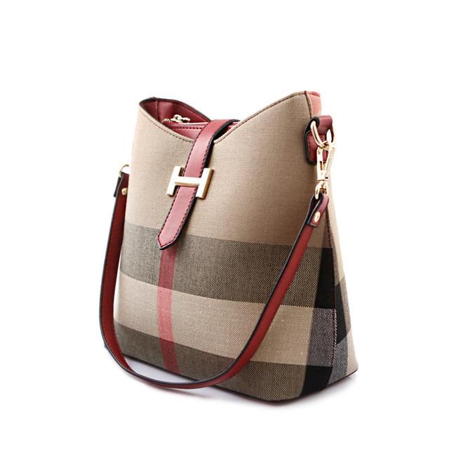 Ms Canvas Contracted Female Bag Atmospheric Joker Single Shoulder Bag Bucket Bag
