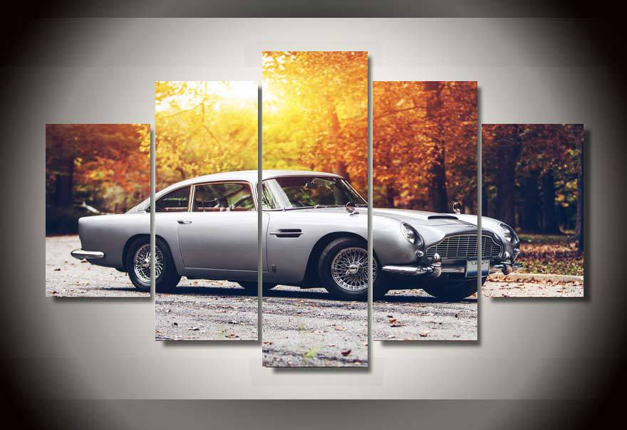 framed printed car aston martin group painting childrens room decor print poster picture canvas decoration free