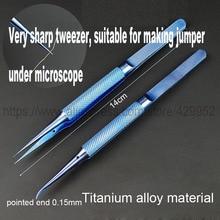 Титановый сплав Пинцет ремонт Fly line точность отпечатков пальцев кислота-Быстрый антикоррозийный наконечник плоскогубцы для гибки материнская плата для Iphone