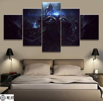 5 Panel LOL League Of Legends Zed Permainan Lukisan Kanvas Cetak untuk Ruang Tamu Dinding Seni Dekorasi Rumah Gambar HD karya Seni Poster