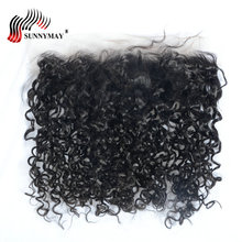 Sunnymay Pre Plucked Lace Frontal Closure With Baby Hair 13x4 Spring Curly Indian Virgin Hair цена