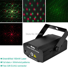 eSHINY Audio Mini R&G moving laser whirlwind Projector DJ Disco dance Stage Lights Xmas bar home Party Lighting Light Show T2