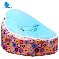 أكياس القماش كيس فول كرسي levmoon متوسط الوردي circl الاطفال السرير للنوم للطي الطفل المحمولة مقعد أريكة زاك دون حشو