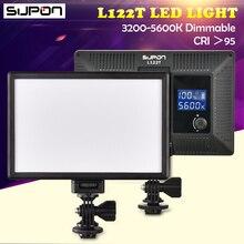 Supon L122T LED 3300 К-5600 К ультра тонкий ЖК-дисплей Би-Цвет и затемнения студия видео свет лампы Панель для Камера видеокамера