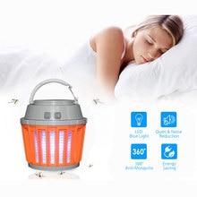Bug Zapper 2 en 1 nuit lampe à ampoule LED et anti-moustique Zapper | Imperméable, Compact, 2200mAh Rechargeable et Portable | Fo