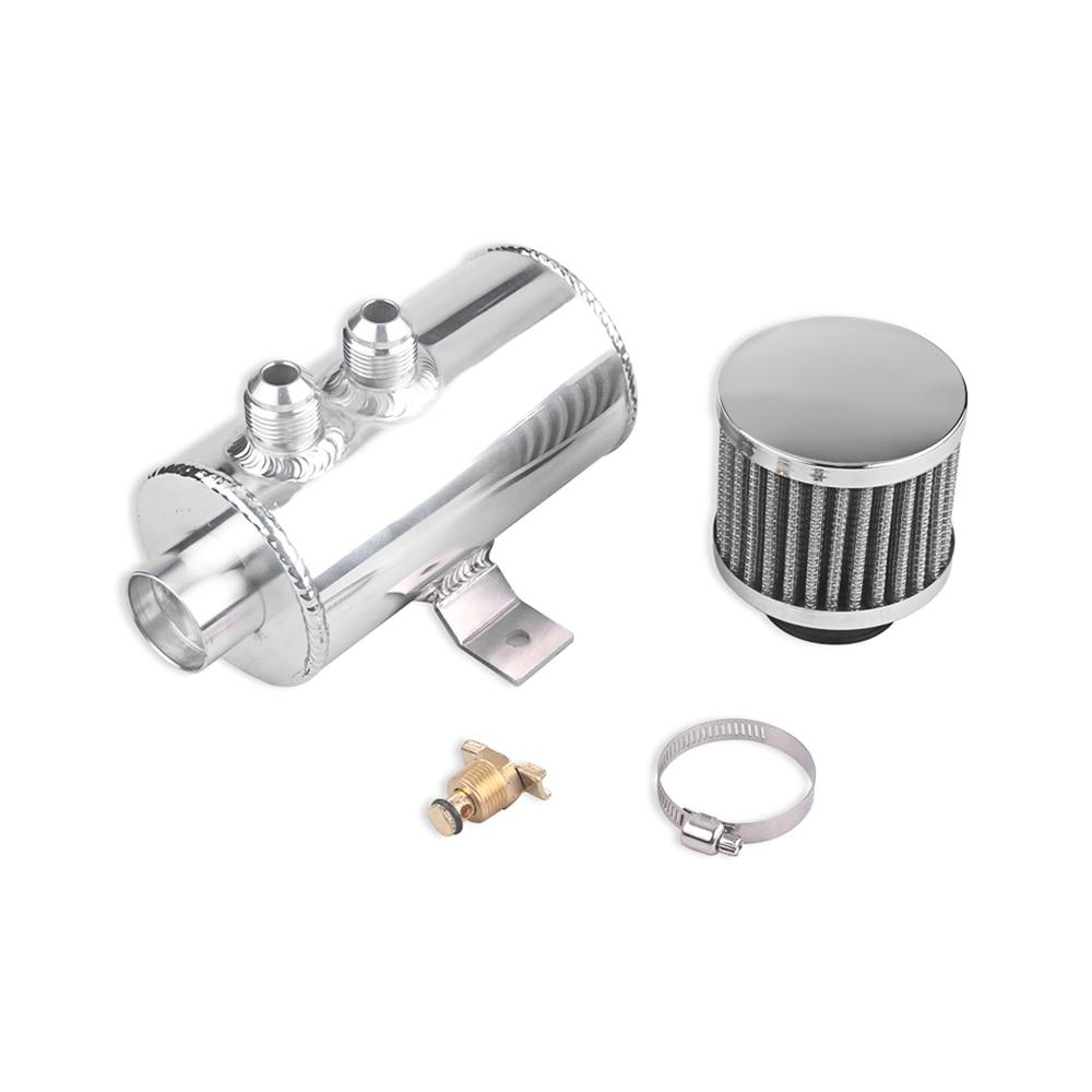 Nouveau 0.75L en alliage d'aluminium chicane bouchon d'huile peut Tube réservoir AN10 capture peut réservoir réservoir/réservoir d'huile avec filtre de reniflard
