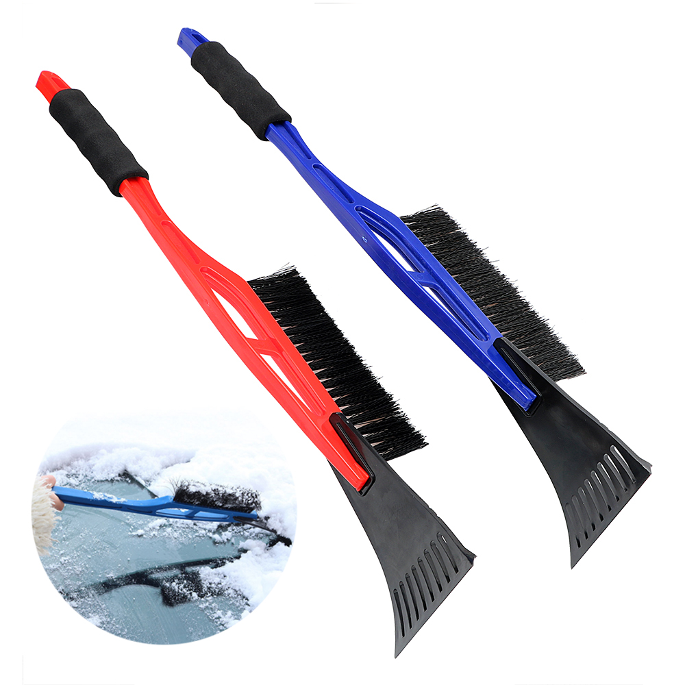 2 in 1 Car Snow Shovel Brush with EVA Handle Ice Remove Clean Tool Auto Windshield Front Hood Ice Scraper Outdoor ABS