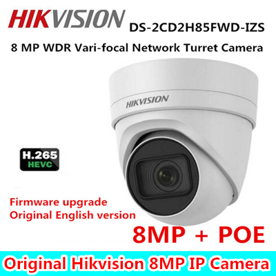 Eng-Ver. Multi-Language 8MP Vari-focal Security Camera H.265 DS-2CD2H85FWD-IZS Turret CCTV IP POE Camera 2.8-12mm face detection зимняя шина nokian hakkapeliitta 8 suv 265 50 r20 111t