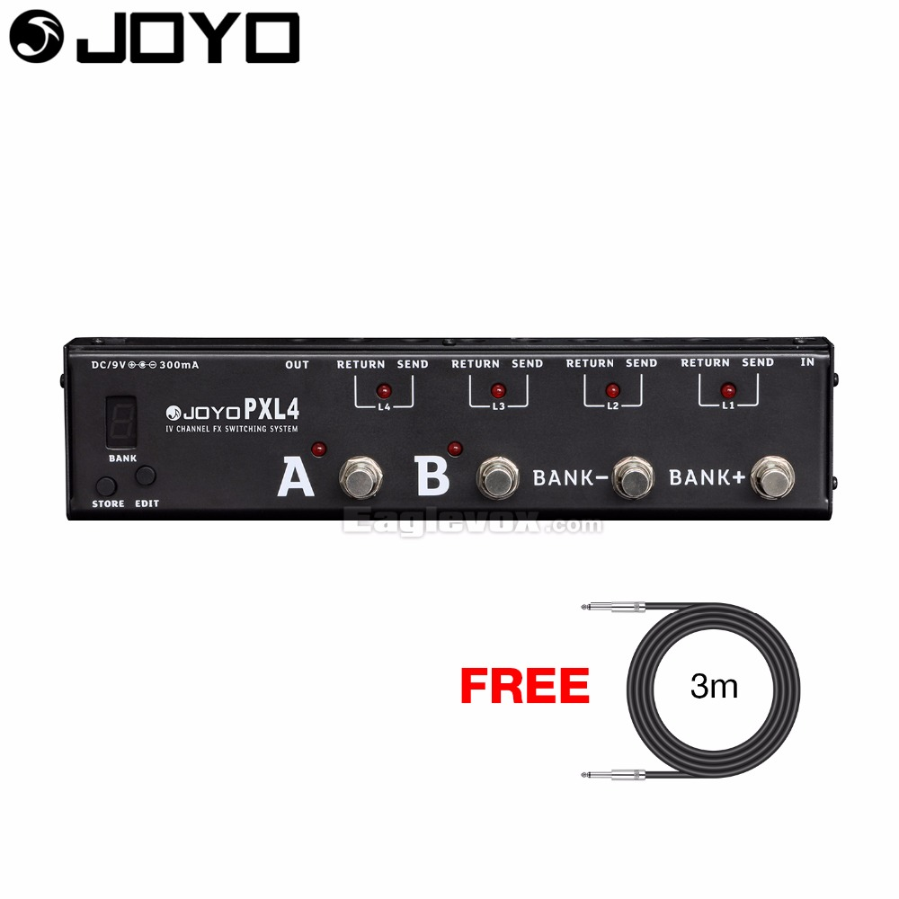 цена JOYO PXL-4 Effect Guitar Pedal Loop Controller with Free 3m Cable онлайн в 2017 году