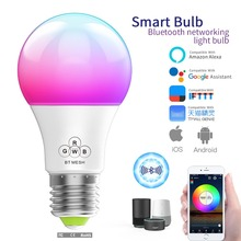 new e27 rgbw led lamp wifi smart light bulb 7w dimmable multicolor wake up lights compatible with alexa and google assistant Timethinker WiFi Smart Light Bulb Dimmable Multicolor Wake-Up Lights RGBW LED Lamp,Compatible with Alexa Google Assistant