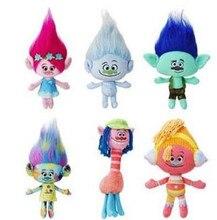 6pcs lot Trolls Plush Toy Doll Cooper Poppy DJ Suki Harper Guy Diamond Branch Stuffed Dolls