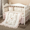 7Pc Crib Infant Room Kids Baby Bedroom Set Nursery Bedding Floral cot bedding set for newborn baby girls