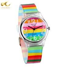 Lancardo Rainbow Quartz Watch Women Ladies Famous Brand Luxury Girl Silicone Wrist Watch Clock Montre Femme Relogio Feminino