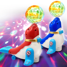 Get more info on the Electronic Toys Sea Lion Colored Ball Dancing Sing Toy Light Music Robot Toy Lol Toys For Children Electronic Pet Random Color