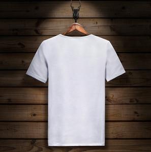 Image 4 - Kurzarm T shirt Lycra Baumwolle Elastische t shirt männer mode Sommer Halb Hülse Boden t shirt