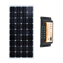 12v 150w Solar Panel Mobile Phone Charger PWM Charge Controller 12v/24v 10A Led Lights Camping Fan Caravana