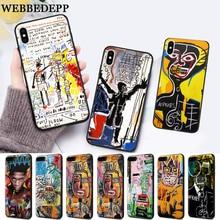WEBBEDEPP Artist Jean Michel Basquiat Silicone soft Case for iPhone 5 SE 5S 6 6S Plus 7 8 11 Pro X XS Max XR