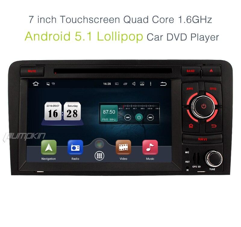 pumpkin 2 din 7 inch android 5 1 car dvd player for audi. Black Bedroom Furniture Sets. Home Design Ideas