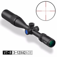 New Discovery Optics VT R 3 12X42 AOE Hunting Riflescope With Red/Green Mil Dot Reticle Airsoft Scope