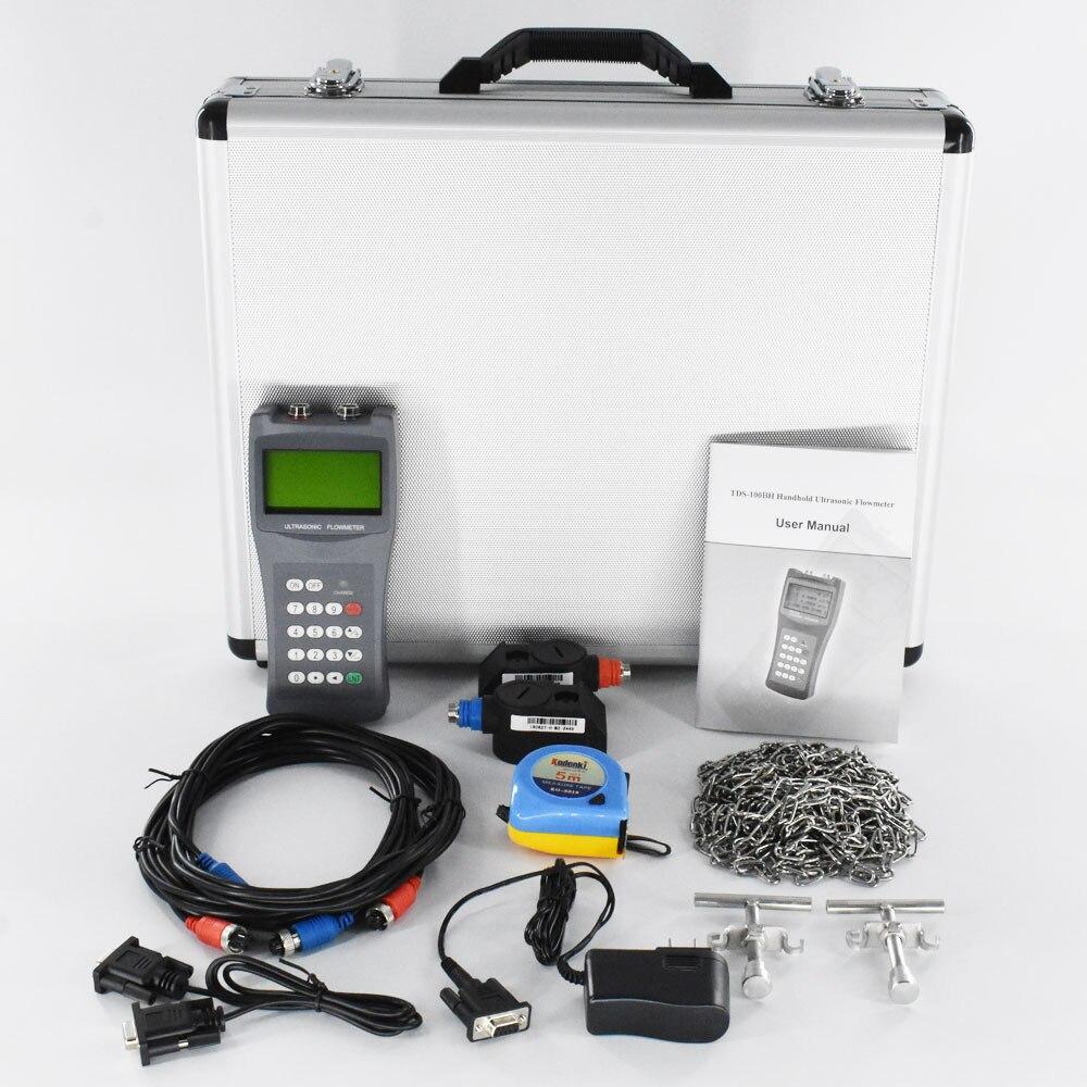 Купить с кэшбэком TDS-100H Ultrasonic Flow meter DN50-700mm M2 Transducer Sensor Portable Handheld Liquid flowmeter