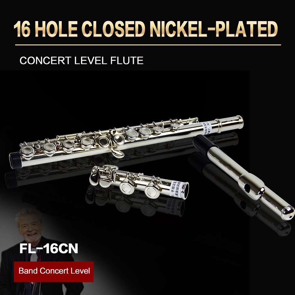 JINXIN Concert Level 16 Hole Closed E Key C Tune Nickel-plated Flute excellence color 16 closed hole purple flute e case c key