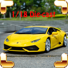 Christmas Gift Huracan LP610 1/18 Alloy Model Car Vehicle Scale Model Diecast Collection Roadster Steel Metal Luxury Present Toy