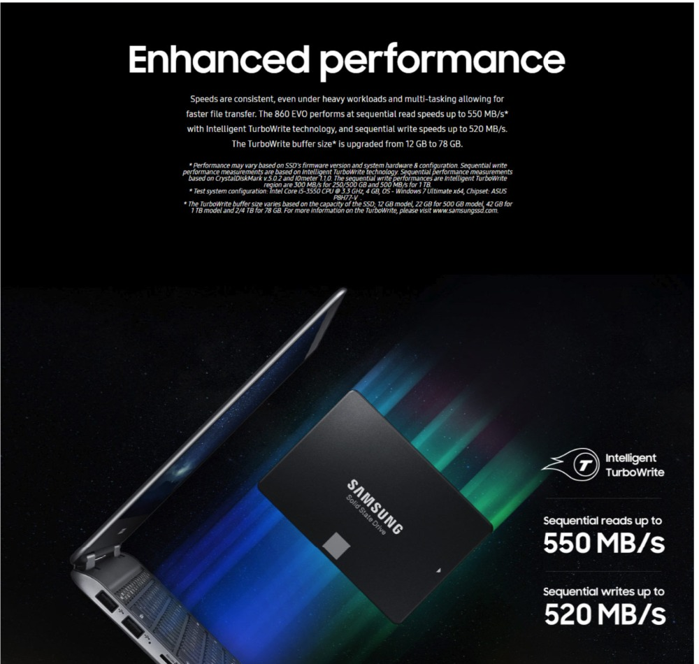 SAMSUNG SSD 860 EVO 250GB 500GB Internal Solid State Disk HDD Hard Drive SATA3 2.5 250 GB inch Laptop Desktop PC TLC disco duro