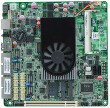 Fan Firewall router motherboard ITX_M5V_B supports Intel D525/1.8GHz cpu with 1*BYPASS /4*INTEL 82583V Gigabit ethernet port