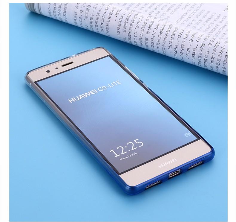 Ultra-cienki przezroczysty miękka tpu case dla huawei p8 p9 plus p8 lite krzemu gradientu telefon ochronna pokrywa dla huawei p9 Shell 10