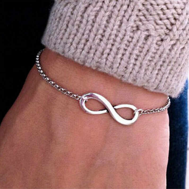 Korean version of jewelry fashion retro unlimited 8 bracelet women bracelet gift wholesale   Bracelets & Bangles Charm Bracelet