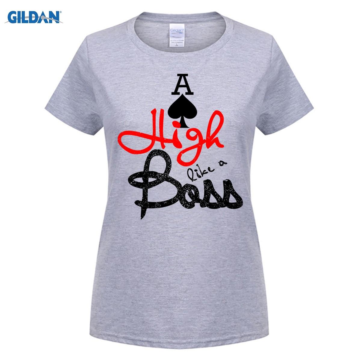 100% Baumwolle Oansatz Individuell Bedruckte T-shirt Asse Hohe Wie Ein Chef Poker T-shirt Für Männer