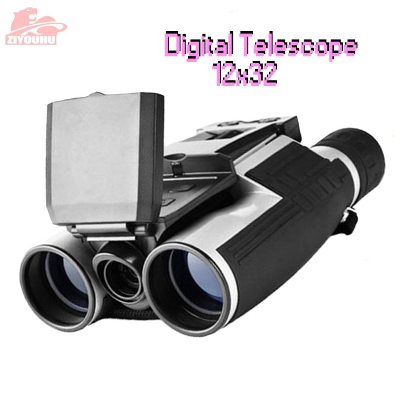 ZIYOUHU HD Digital Binoculars 12 x 32 Telescope Camera VCR Function 2 LCD Display Screen for Hunting Professional