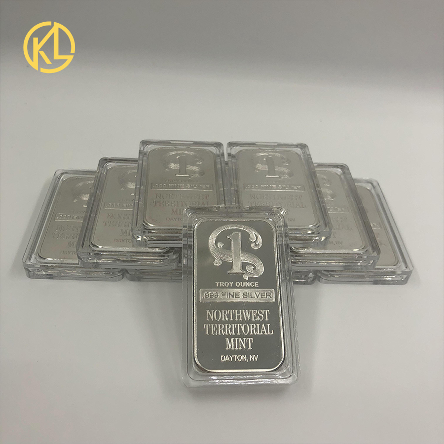 10pcs Nice Collection For TROY OUNCE 999 FINE Silver Plated Metal Bar Northwest Territorial Mint Art Crafts Bullion Bar Coin